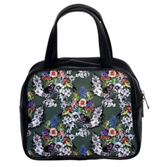 Vintage flowers and birds pattern Classic Handbag (Two Sides)