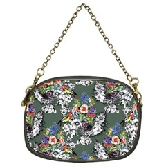 Vintage flowers and birds pattern Chain Purse (One Side)