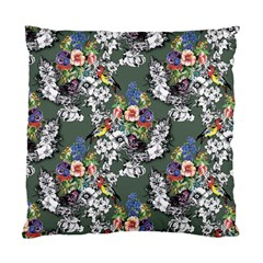 Vintage flowers and birds pattern Standard Cushion Case (One Side)