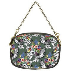 Vintage flowers and birds pattern Chain Purse (Two Sides)