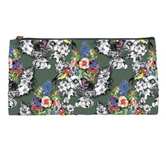Vintage flowers and birds pattern Pencil Cases