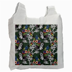 Vintage flowers and birds pattern Recycle Bag (One Side)
