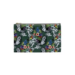 Vintage flowers and birds pattern Cosmetic Bag (Small)
