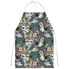 Vintage flowers and birds pattern Full Print Aprons