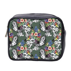 Vintage flowers and birds pattern Mini Toiletries Bag (Two Sides)