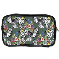 Vintage flowers and birds pattern Toiletries Bag (One Side)