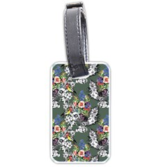 Vintage flowers and birds pattern Luggage Tags (One Side)