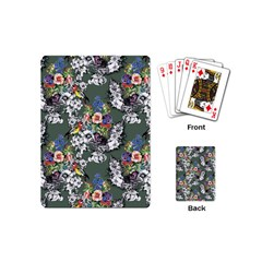 Vintage flowers and birds pattern Playing Cards (Mini)