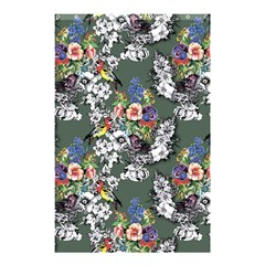 Vintage flowers and birds pattern Shower Curtain 48  x 72  (Small)