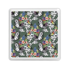 Vintage Flowers And Birds Pattern Memory Card Reader (square) by goljakoff