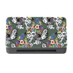 Vintage flowers and birds pattern Memory Card Reader with CF