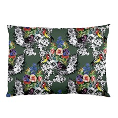 Vintage flowers and birds pattern Pillow Case (Two Sides)