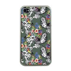 Vintage flowers and birds pattern iPhone 4 Case (Clear)