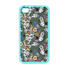 Vintage flowers and birds pattern iPhone 4 Case (Color)