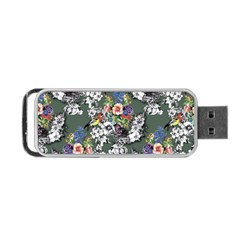 Vintage flowers and birds pattern Portable USB Flash (One Side)