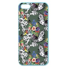 Vintage flowers and birds pattern Apple Seamless iPhone 5 Case (Color)