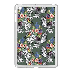 Vintage flowers and birds pattern Apple iPad Mini Case (White)