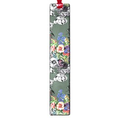 Vintage flowers and birds pattern Large Book Marks