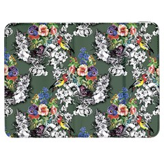 Vintage flowers and birds pattern Samsung Galaxy Tab 7  P1000 Flip Case