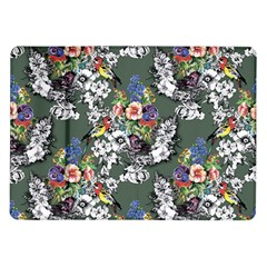 Vintage flowers and birds pattern Samsung Galaxy Tab 10.1  P7500 Flip Case