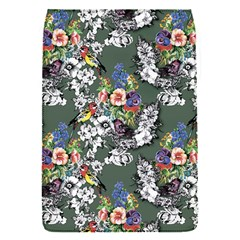 Vintage flowers and birds pattern Removable Flap Cover (S)