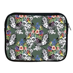 Vintage flowers and birds pattern Apple iPad 2/3/4 Zipper Cases