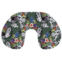 Vintage flowers and birds pattern Travel Neck Pillows