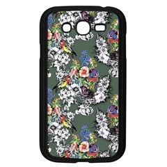 Vintage flowers and birds pattern Samsung Galaxy Grand DUOS I9082 Case (Black)