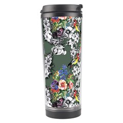 Vintage flowers and birds pattern Travel Tumbler
