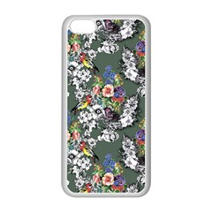 Vintage flowers and birds pattern iPhone 5C Seamless Case (White)