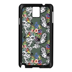 Vintage flowers and birds pattern Samsung Galaxy Note 3 N9005 Case (Black)