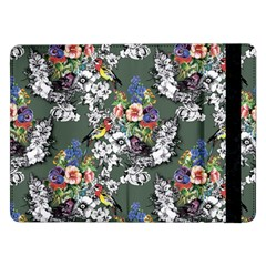 Vintage flowers and birds pattern Samsung Galaxy Tab Pro 12.2  Flip Case