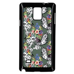 Vintage flowers and birds pattern Samsung Galaxy Note 4 Case (Black)