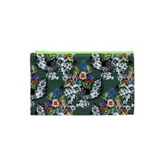 Vintage flowers and birds pattern Cosmetic Bag (XS)