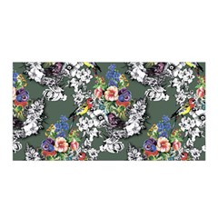 Vintage flowers and birds pattern Satin Wrap
