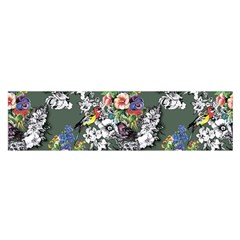 Vintage flowers and birds pattern Satin Scarf (Oblong)