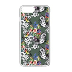 Vintage flowers and birds pattern iPhone 7 Plus Seamless Case (White)
