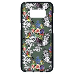 Vintage flowers and birds pattern Samsung Galaxy S8 Black Seamless Case