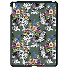 Vintage flowers and birds pattern Apple iPad Pro 9.7   Black Seamless Case