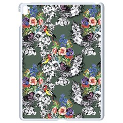 Vintage flowers and birds pattern Apple iPad Pro 9.7   White Seamless Case