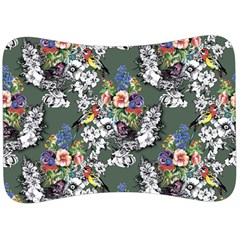 Vintage flowers and birds pattern Velour Seat Head Rest Cushion
