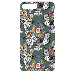Vintage flowers and birds pattern iPhone 7/8 Plus Black Frosting Case
