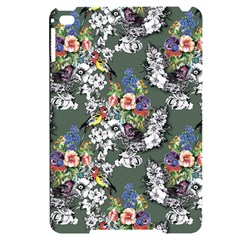 Vintage flowers and birds pattern Apple iPad mini 4 Black Frosting Case
