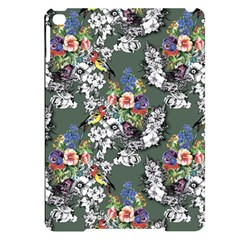 Vintage flowers and birds pattern Apple iPad Pro 9.7   Black Frosting Case