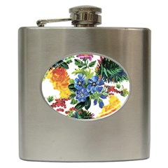 Flowers Painting Hip Flask (6 Oz)