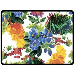 Flowers Painting Double Sided Fleece Blanket (large)  by goljakoff
