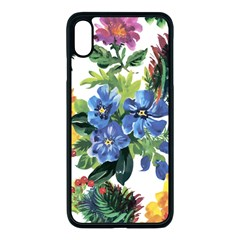 Flowers Painting Iphone Xs Max Seamless Case (black) by goljakoff
