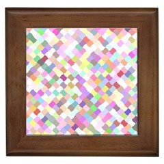 Mosaic Colorful Pattern Geometric Framed Tiles