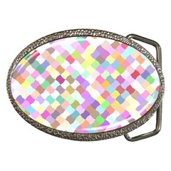 Mosaic Colorful Pattern Geometric Belt Buckles