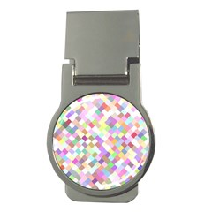 Mosaic Colorful Pattern Geometric Money Clips (round)